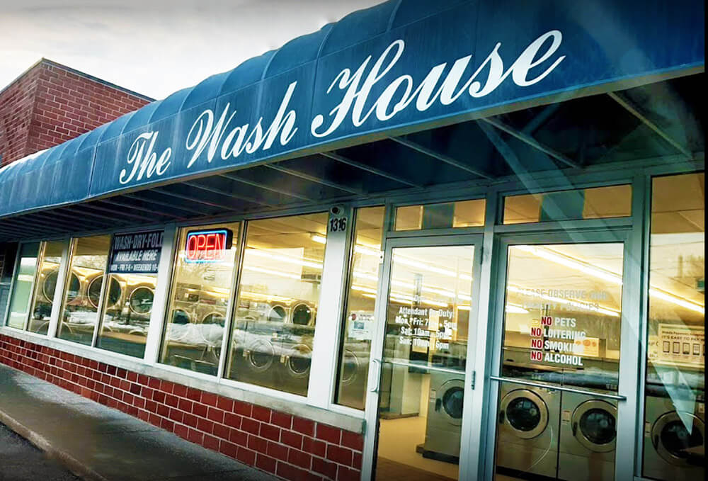 The Wash House Laundromat in Des Moines, Iowa